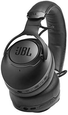 JBL CLUB One - Wireless Over-Ear Bluetooth Headphones, True Adaptive Noise Cancelling Bluetooth Headphones with Microphone, Amazon Alexa Voice Control, up to 45 Hours Battery (Black)