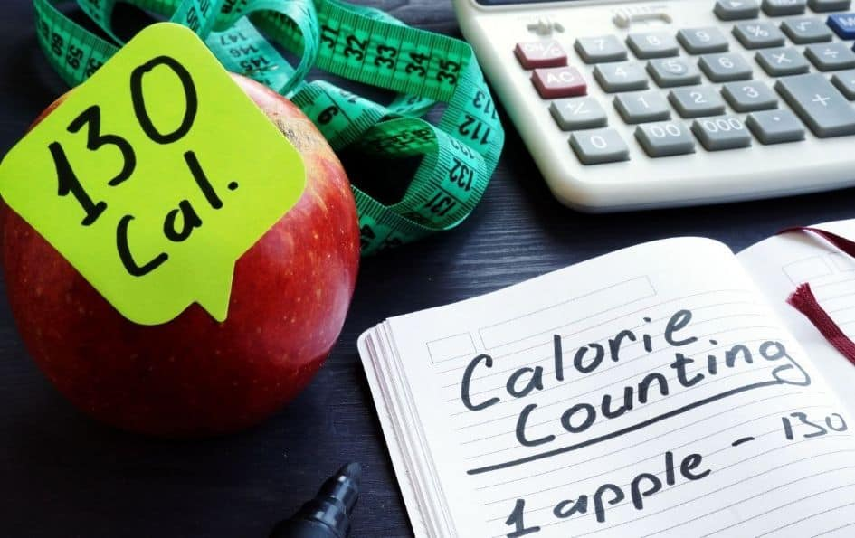 Counting calories concept on the keto diet