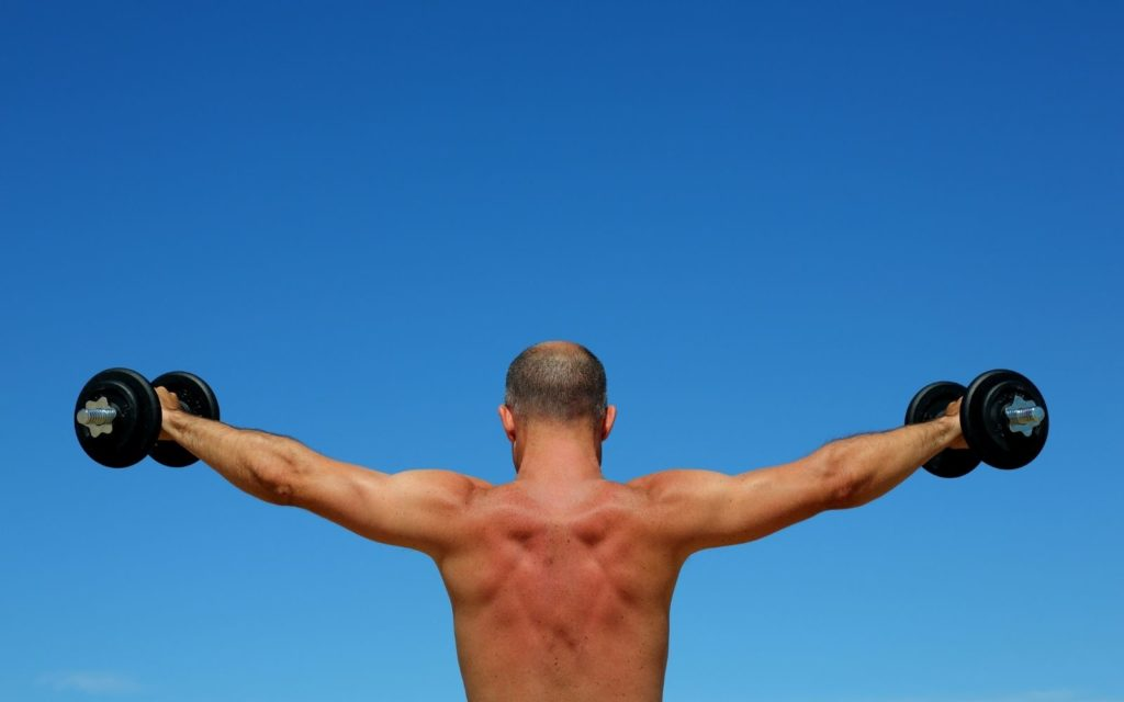 Lift weights and strength training is one of the most effective methods to keep lean muscle