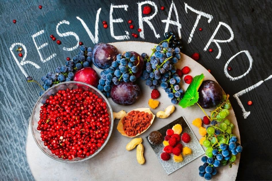 Resveratrol is found primarily in the skin of red grapes
