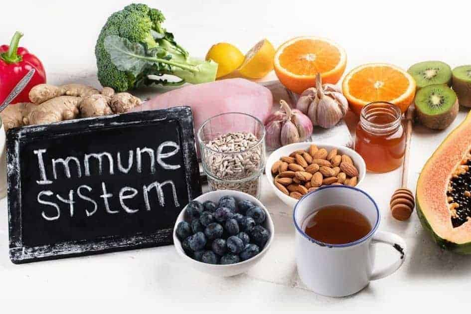 Stimulate the immune system by following an antiaging diet