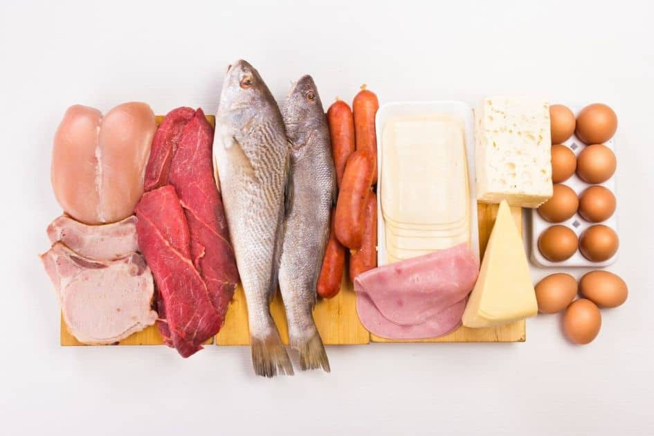 Your diet should vary the total amount of protein