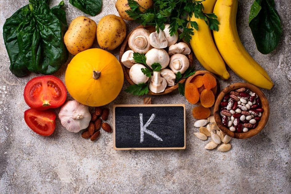 Foods with high content in potassium