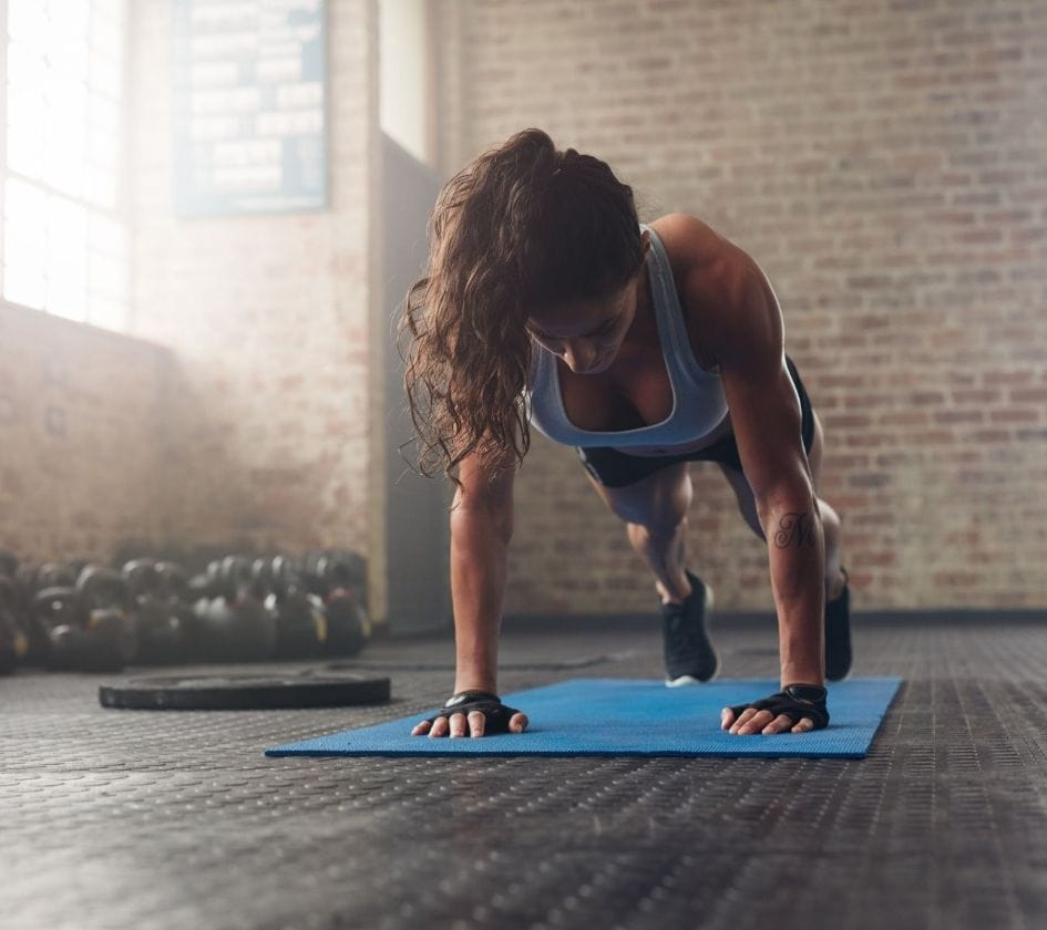 A fit woman is working out