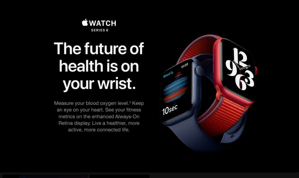 Health monitoring of Apple Watch Series 6