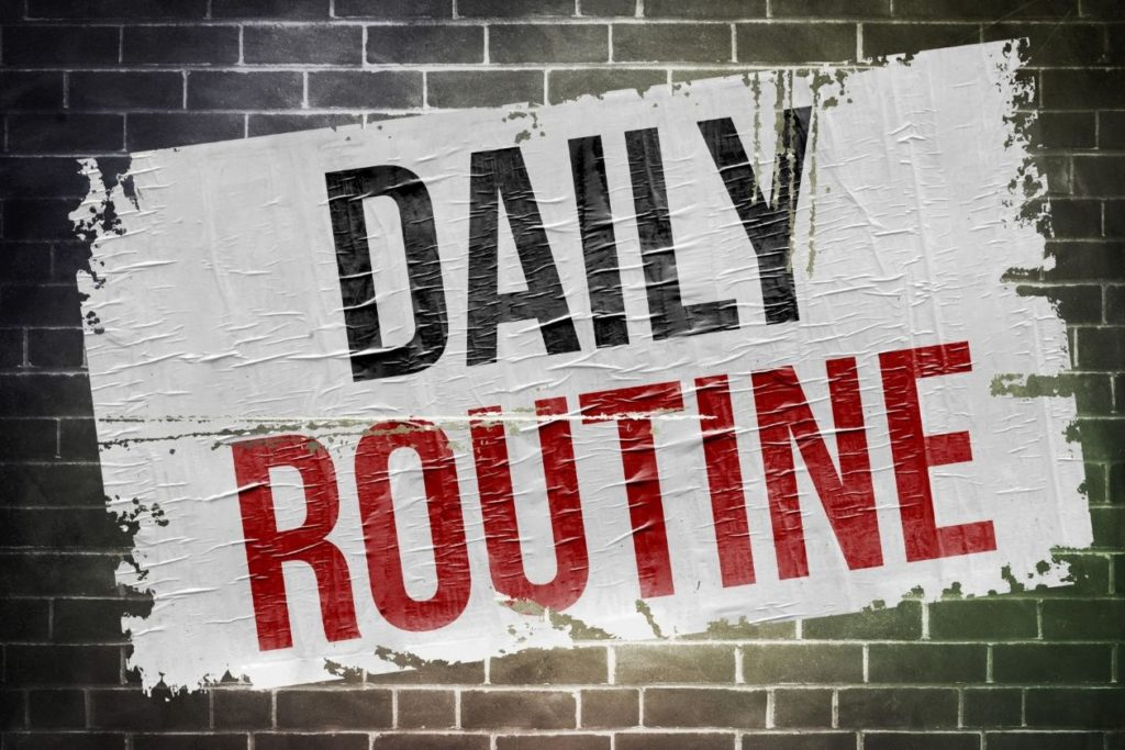 Creating a daily routine