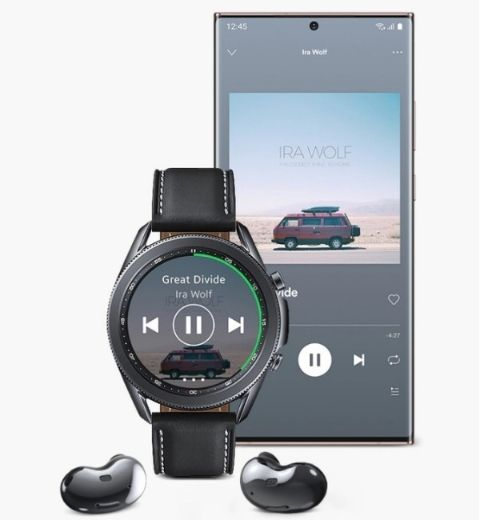 The watch has a variety of apps and storage