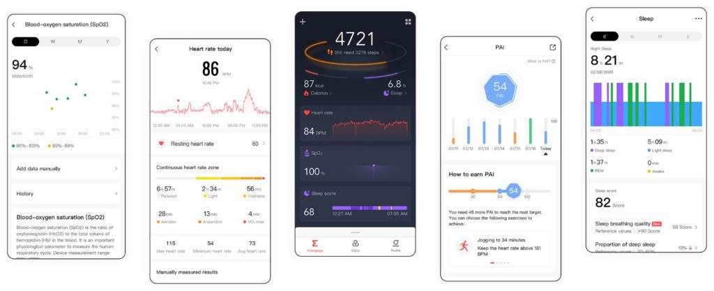 The Companion app of Amazfit GTS 2e Smartwatch