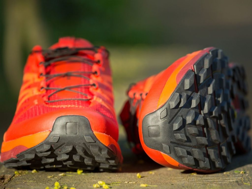 Break down the components of running shoes