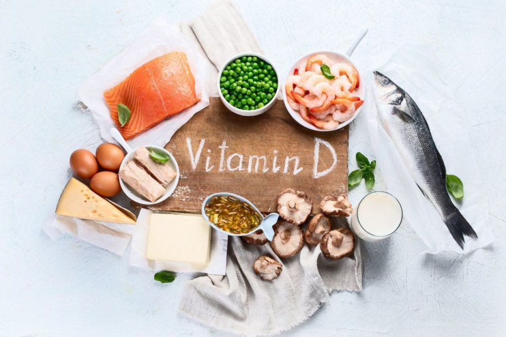 Vitamin D is a fat soluble vitamin that is essentially stored in the body through exposure to sunlight, and humans must maintain bone health