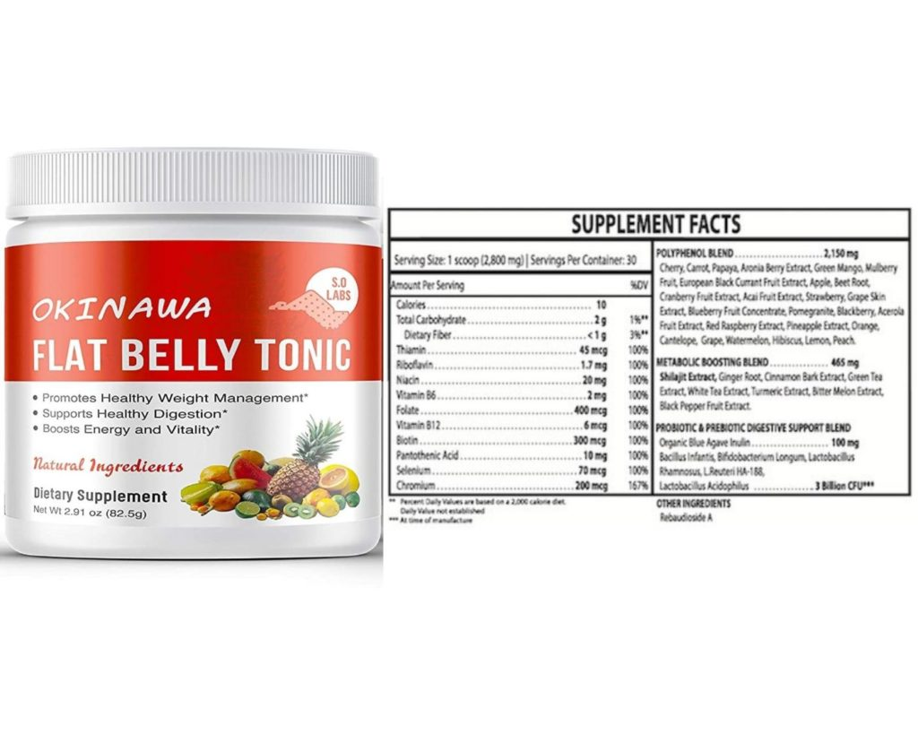 Okinawa Flat Belly Tonic is Made of natural ingredients