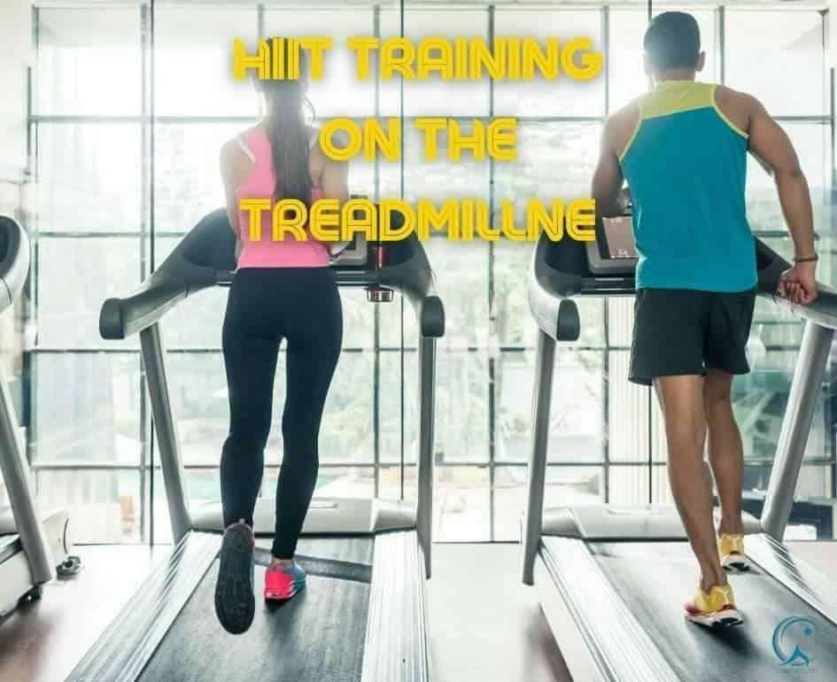 HIIT training on the treadmill