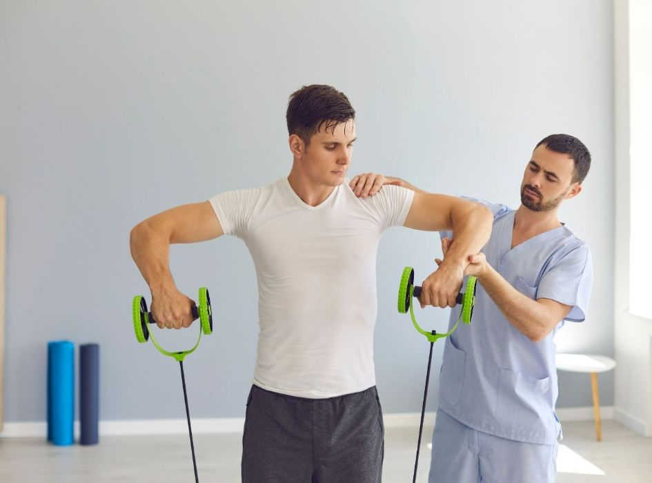 Resistance bands can help you recover from injuries by simply following protocol and treating the injured area with pressure points