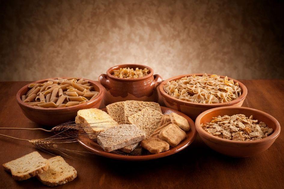 Whole grain bread and pasta