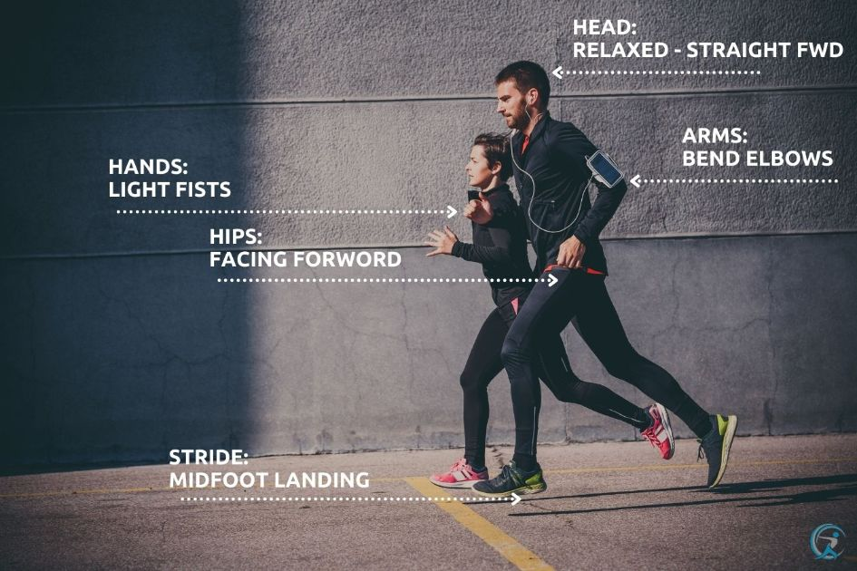 Keep correct Running Form to improve your running form
